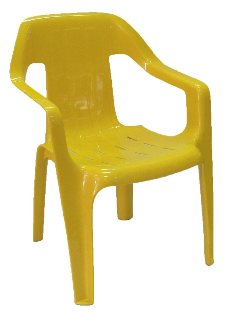 Childrens Plastic Chair - Yellow [1024x768]